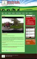 Mid Wales Vintage Machinery Club website Design screen grab