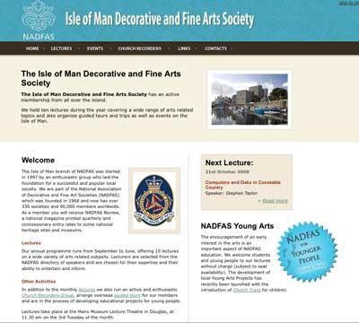 Isle of Man Website Screen Grab