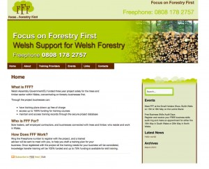 Focus on Forestry First Website Screen Grab