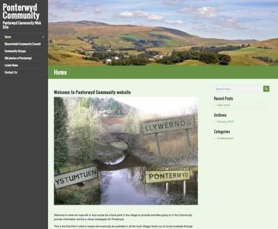Village Community Website Design