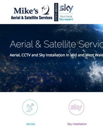 Mikes Aerials Website Design