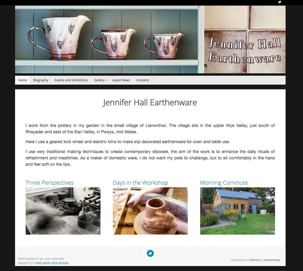 Jenny the Potter Website Screen Grab