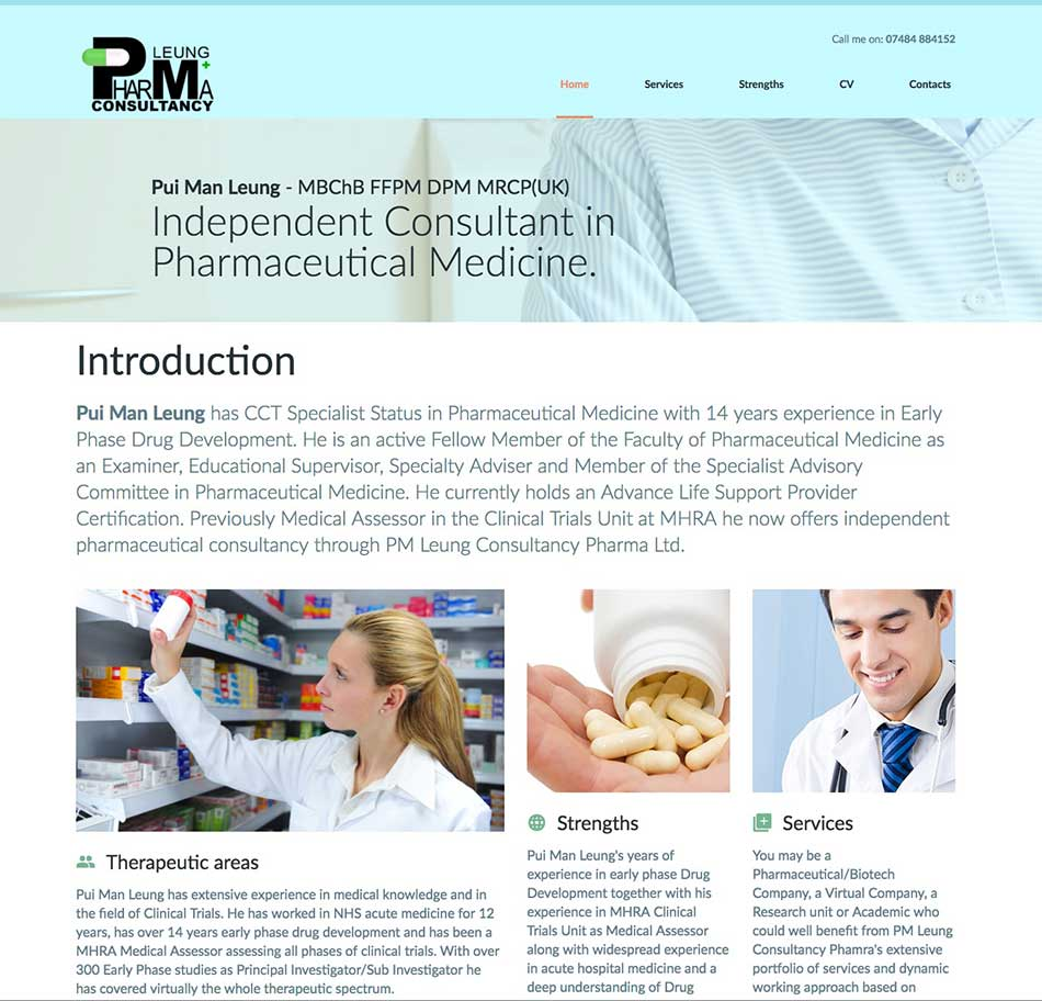 PM-Leung Website Design