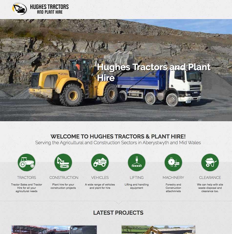 Hughes Tractors Website Design Screen Grab