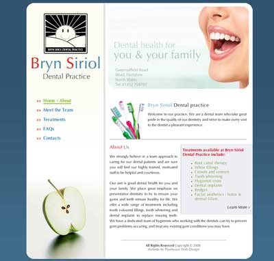 Bryn Siriol Dental Practice Website Screen Grab